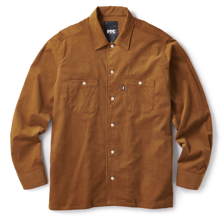 "画像1: FTC ""CORDUROY WORK SHIRT"" - BROWN (1)"
