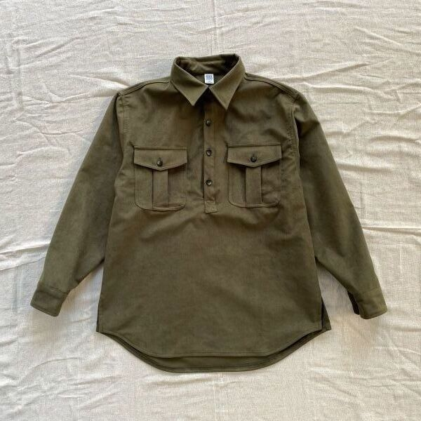 "画像1: COMFORTABLE REASON ""THOROUGHBRED SHIRTS"" - OLIVE (1)"