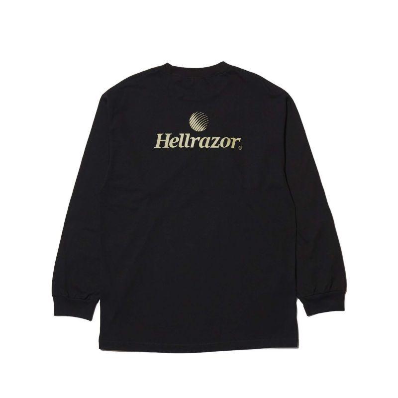 """画像1: HELLRAZOR  """"TRADEMARK LOGO L/S SHIRT"""" - BLACK (1)"""