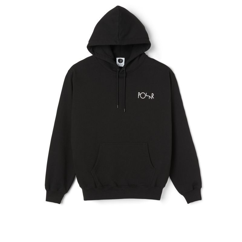 "画像1: POLAR SKATE CO.""MOTH HOUSE HOODIE"" - BLACK (1)"