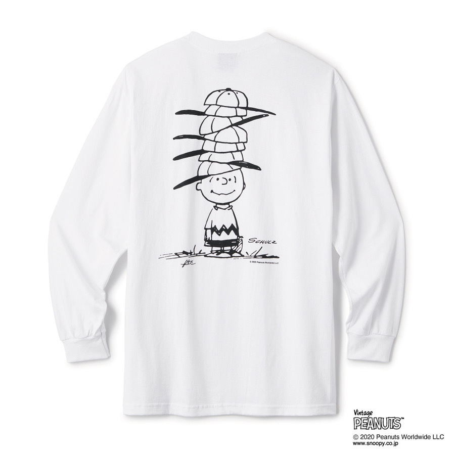 画像1: FTC x PEANUTS CHARLIE BROWN L/S TEE-WHITE (1)
