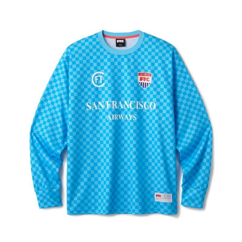 "画像1: FTC ""CHECKER GAME JERSEY"" - BLUE (1)"