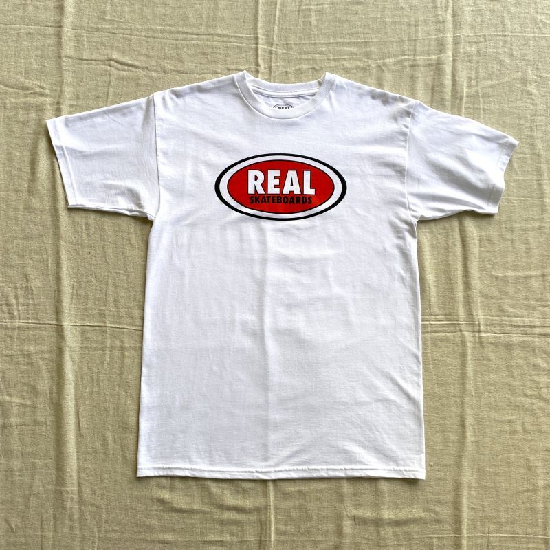 "画像1: REAL SKATEBOARDS ""LOGO PRINT S/S TEE"" - WHITE (1)"