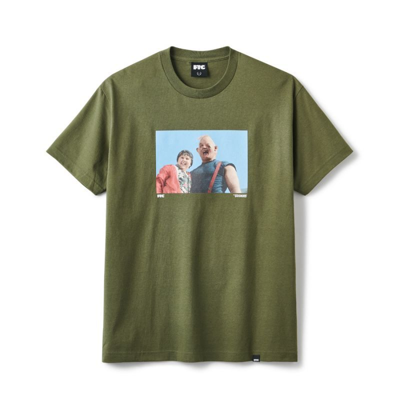 "画像1: FTC x GOONIES ""SLOTH TEE"" - MILITARY GREEN (1)"