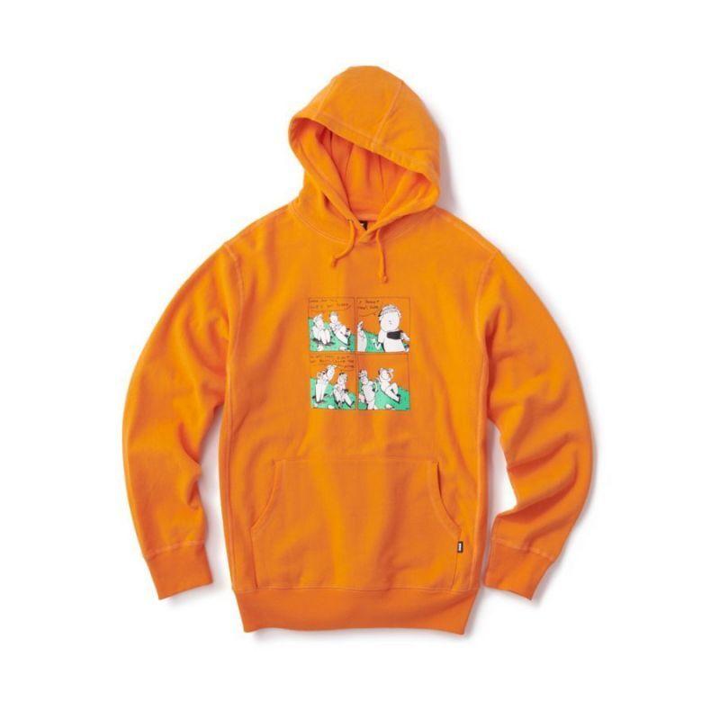 画像1: FTC [エフティーシー] CLIPS PULLOVER HOODY-orange (1)