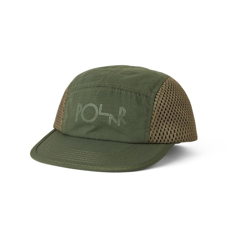 "画像1: POLAR SKATE CO. ""MESH SPEED CAP"" - Olive  (1)"