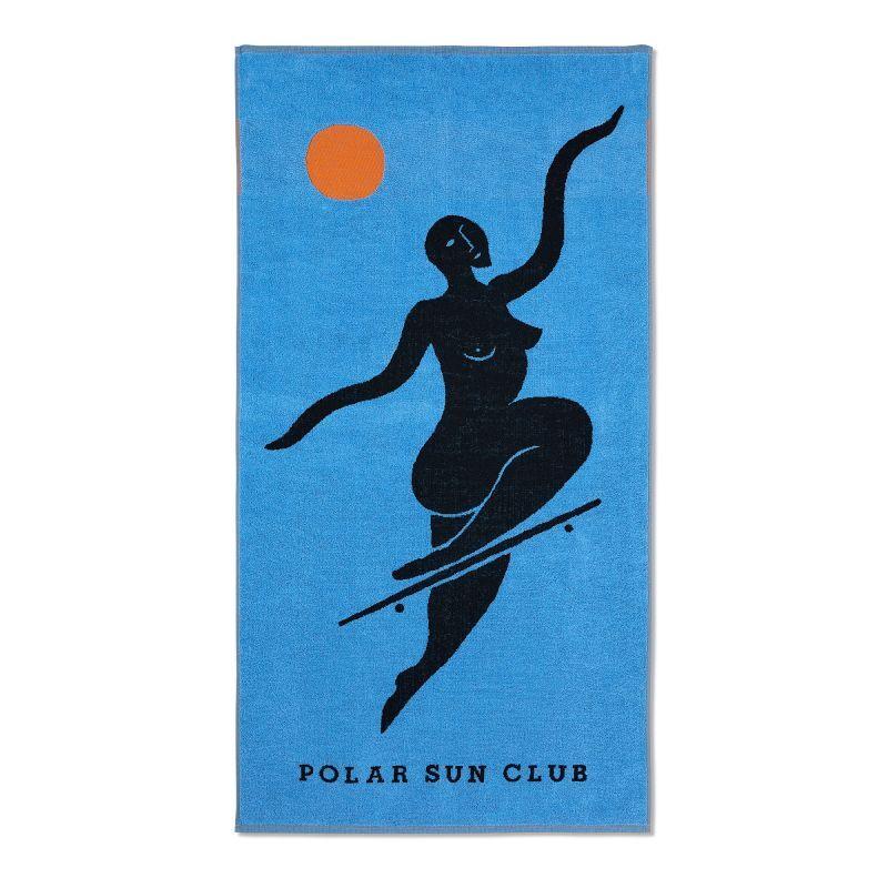 "画像1: POLAR SKATE CO. ""NO COMPLIES FOREVER BEACH TOWEL"" - Blue (1)"