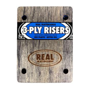 """画像1: REAL SKATEBOADS """"3-PLY RISERS 1/8"""" - THUNDER (1)"""